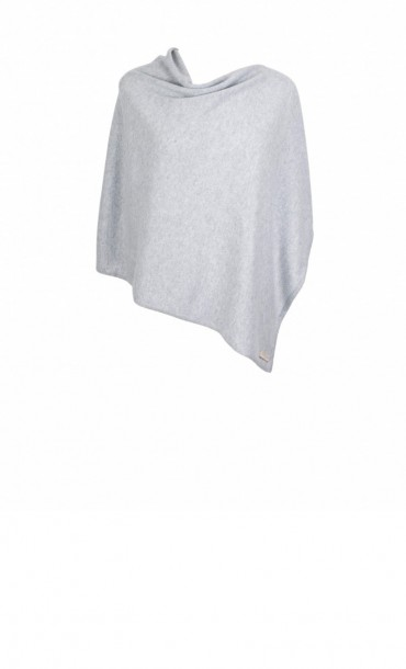 Light Grey Cashmere Poncho