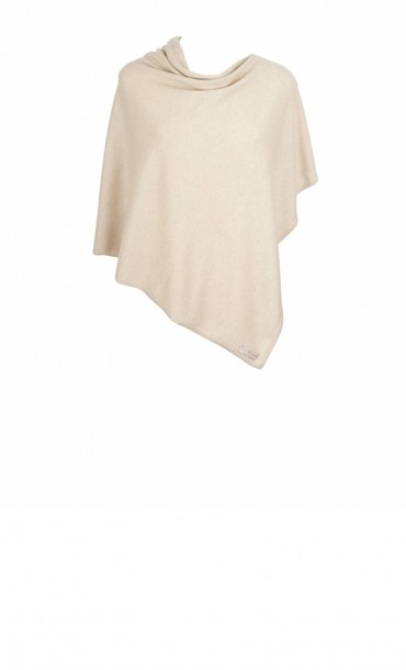 Cashmere Poncho Natural
