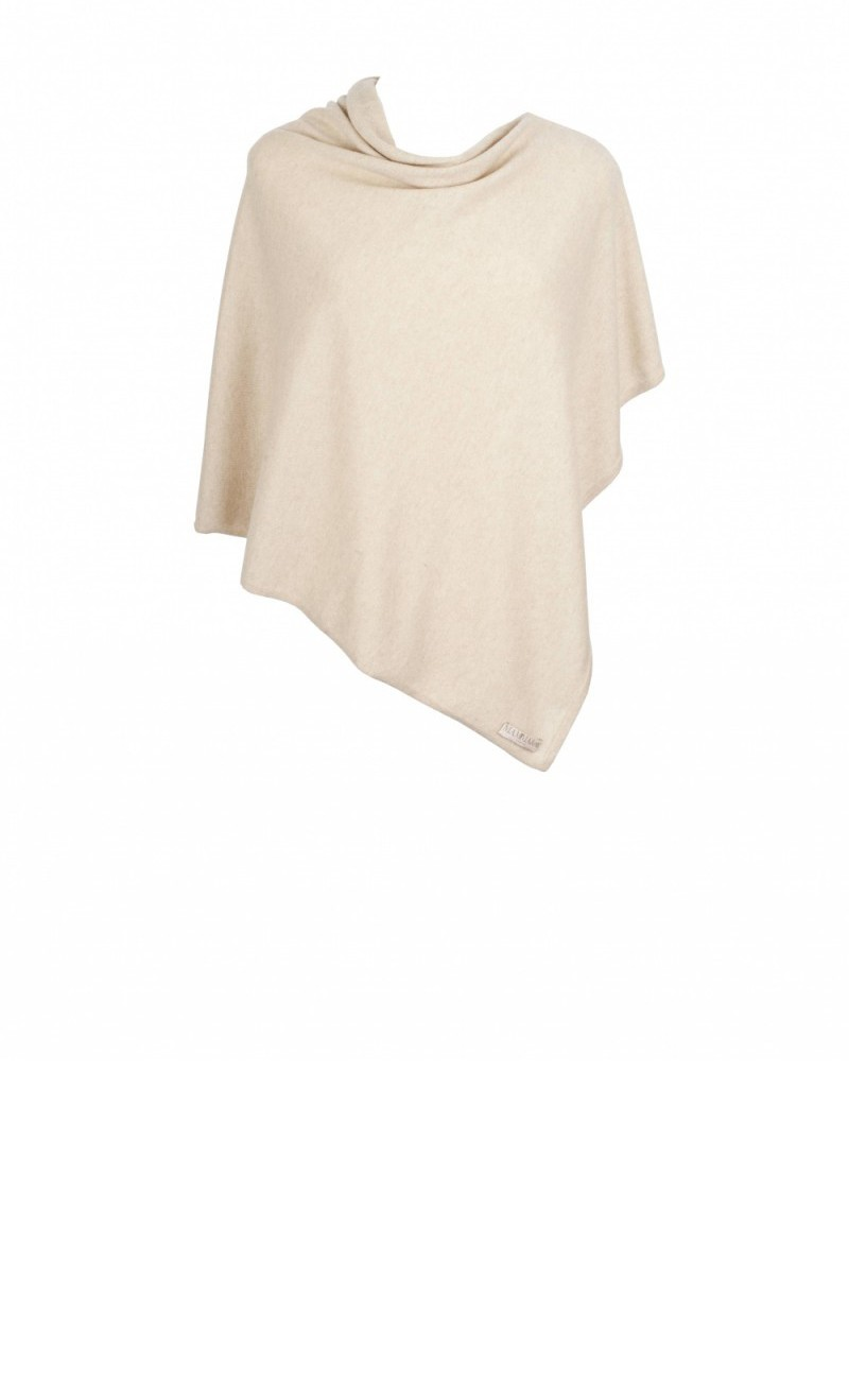 Natural Cashmere Poncho