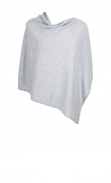 Cashmere Poncho Light Grey