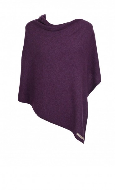 Berry Cashmere Poncho